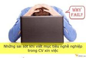 Những sai sót khi viết mục tiêu nghề nghiệp trong CV xin việc