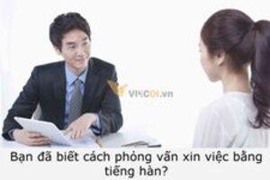 Bạn đã biết cách phỏng vấn xin việc bằng tiếng hàn?